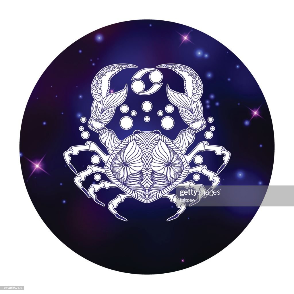Cancer Zodiac Sign Horoscope Symbol Vector Illustration Vector Art