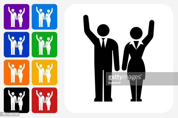 Candidates Icon Square Button Set