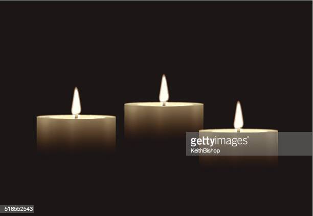 candle background - memorial event stock illustrations
