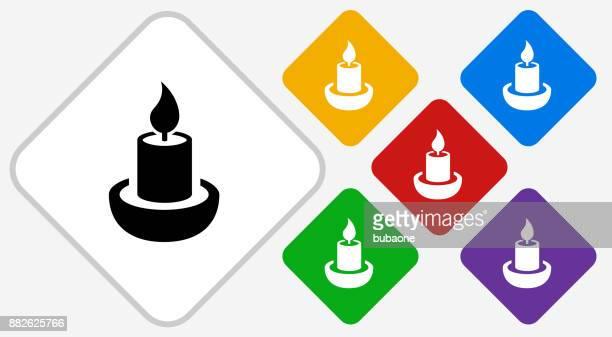 Candle Color Diamond Vector Icon
