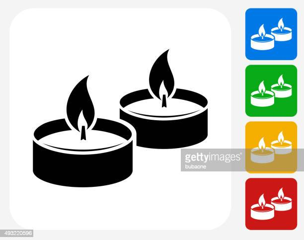 candle fire icon flat graphic design - candle stock illustrations, clip art, cartoons, & icons