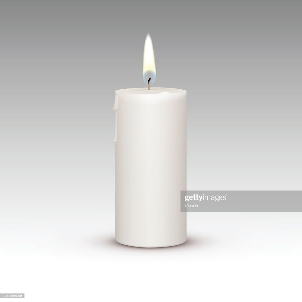 Candle Flame Fire Light Isolated on Background