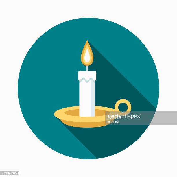 candle flat design easter icon with side shadow - candle stock illustrations, clip art, cartoons, & icons