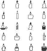 Candle icon set