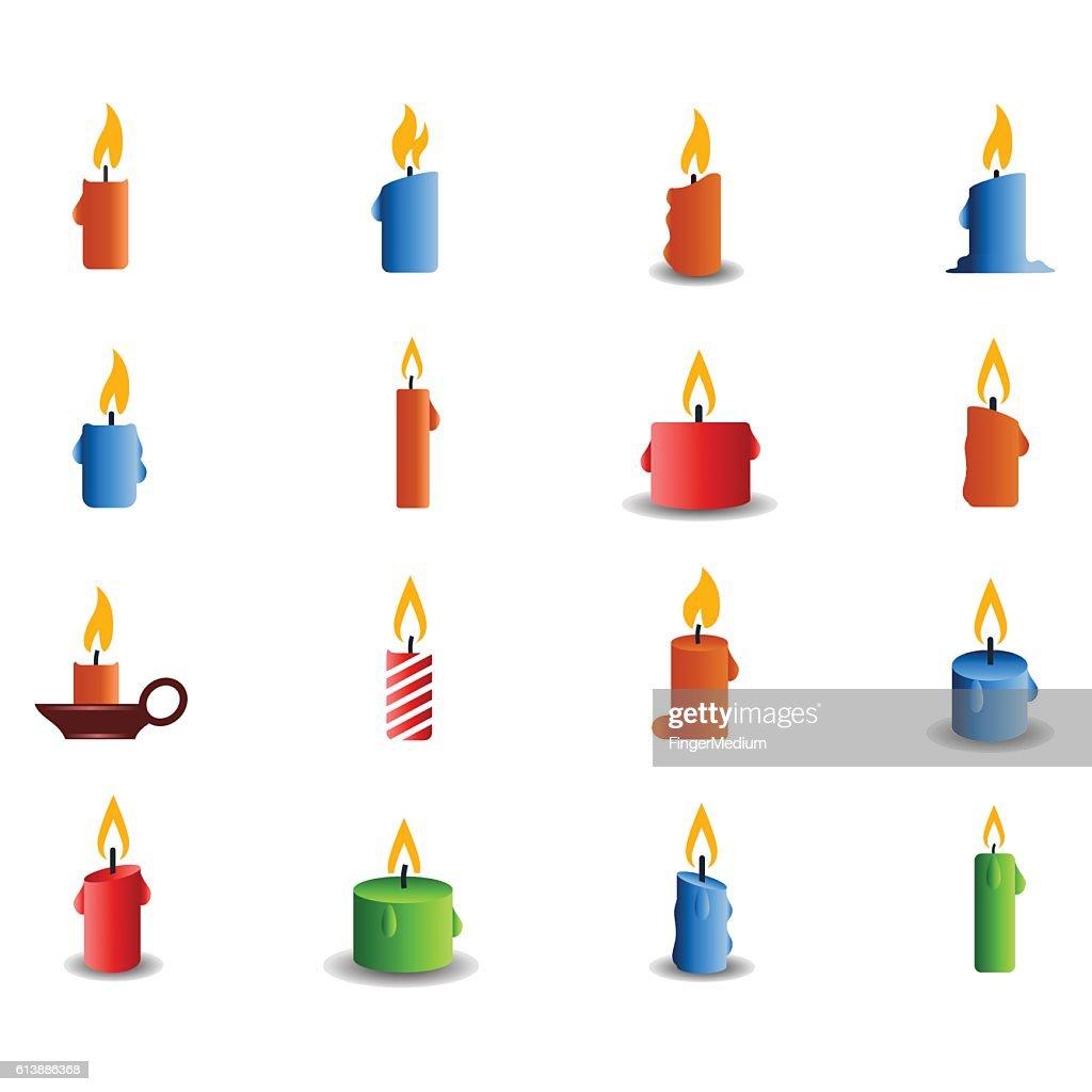 Candle icon set