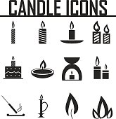 Candle  icons. vector illustration eps 10.