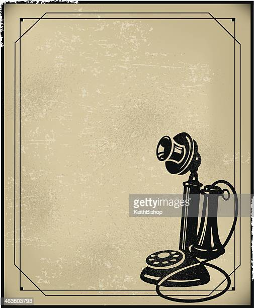 candle stick phone - retro communications background - candlestick phone stock illustrations