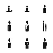 Candle vector icons