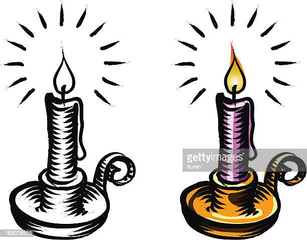 candle - flare stack stock illustrations, clip art, cartoons, & icons
