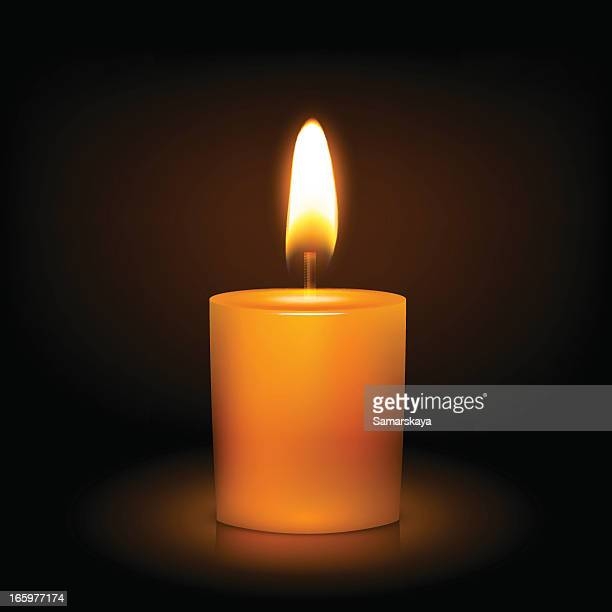 candle - candle stock illustrations, clip art, cartoons, & icons