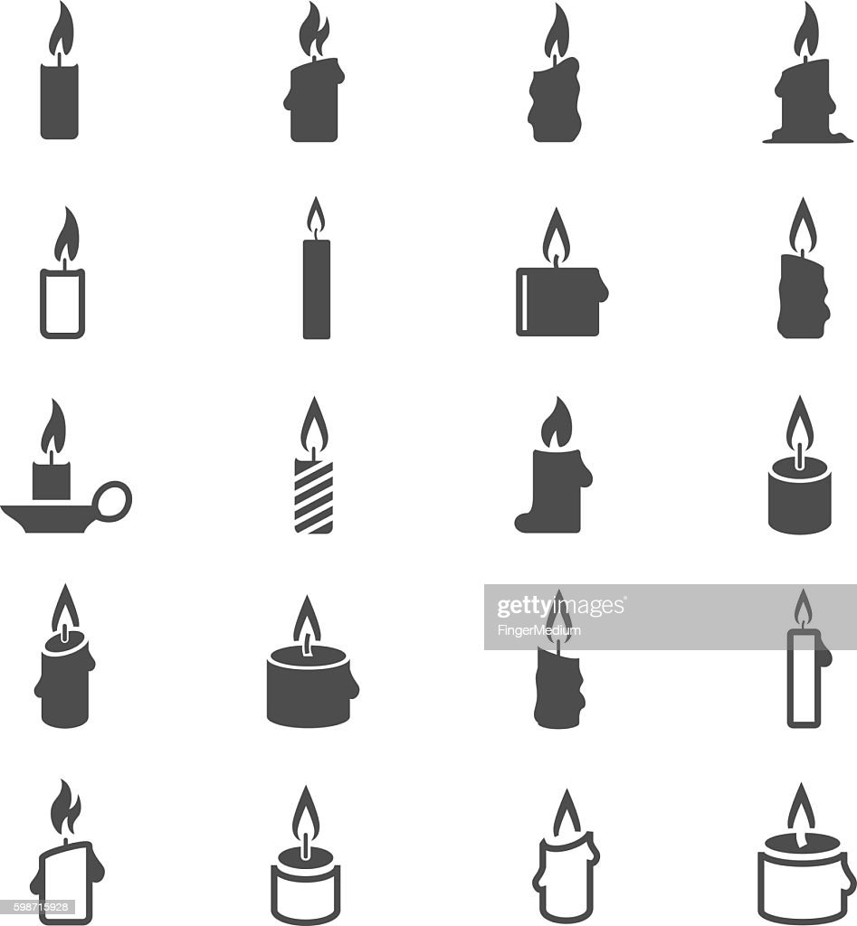 Candles icon set : stock illustration