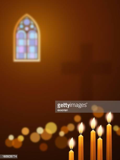 candles in church - candle stock illustrations, clip art, cartoons, & icons