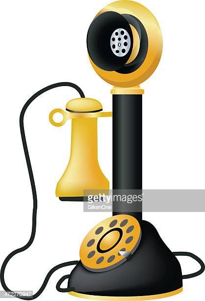 candlestick phone - candlestick phone stock illustrations