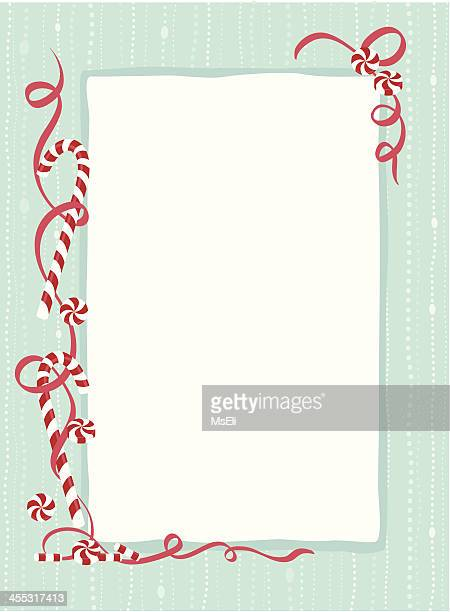 candy cane border - candy cane stock illustrations