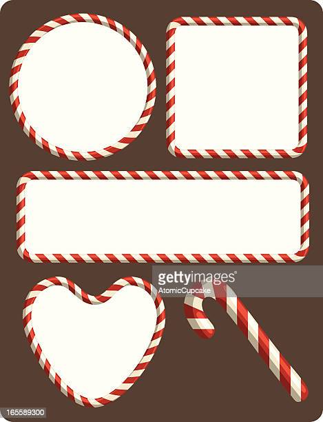 candy cane borders - candy cane stock illustrations