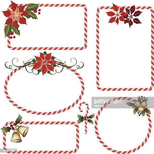 candy cane frames - candy cane stock illustrations