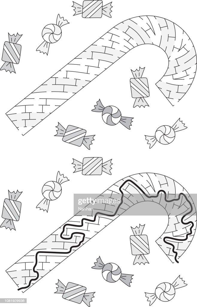 Candy cane maze