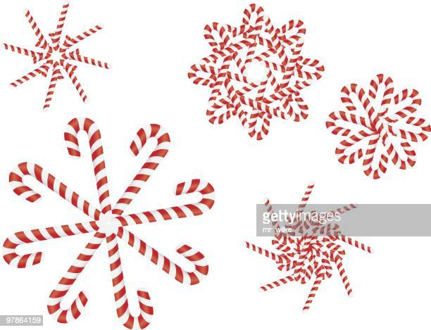 Candy Cane Snow Flakes