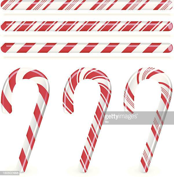 candy canes - candy cane stock illustrations