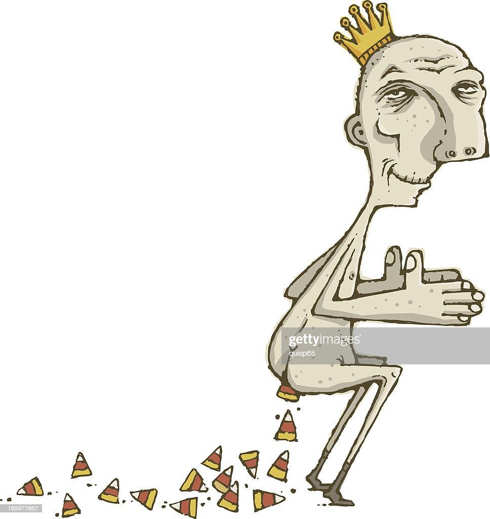 Candy Corn King : stock illustration
