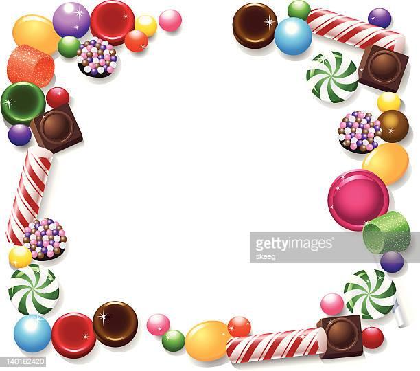 ilustrações, clipart, desenhos animados e ícones de quadro de doces - comida doce