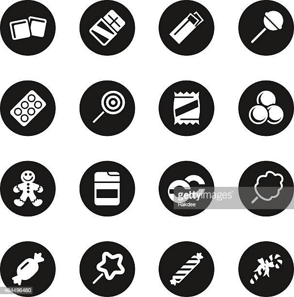 Candy Icons Set 1 - Black Circle Series