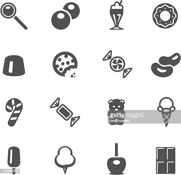 candy icons - cookie stock illustrations, clip art, cartoons, & icons