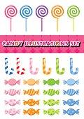 Candy illustrations set