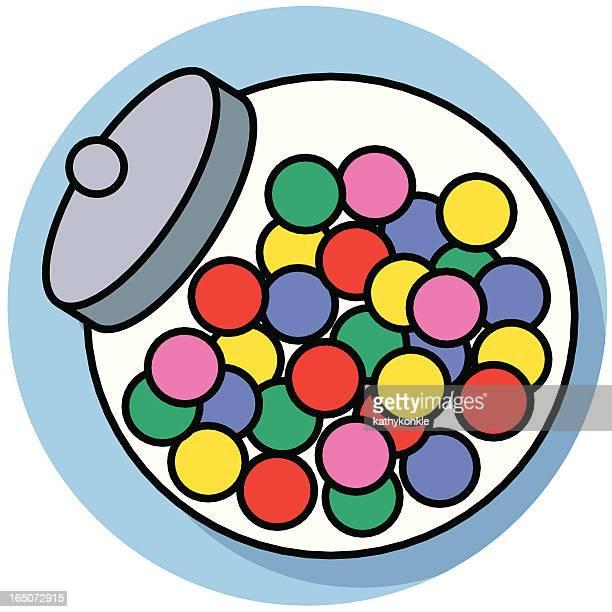 candy jar - jar stock illustrations