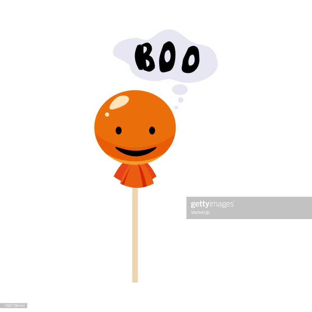 Candy, lollipop, holiday Halloween, character Halloween, attribute, icon, vector, illustration, isolated, cartoon styyle