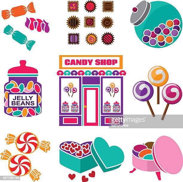 キャンディショップ - ペパーミント点のイラスト素材/クリップアート素材/マンガ素材/アイコン素材