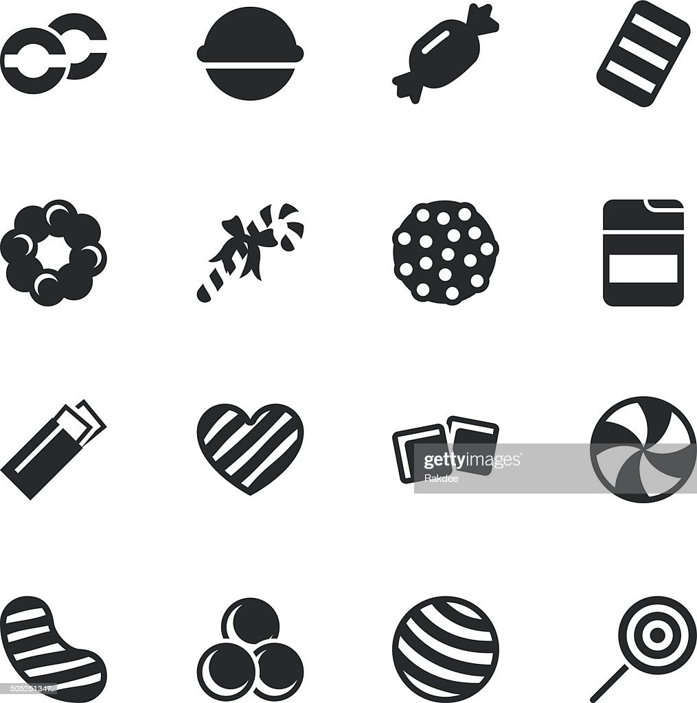 Candy Silhouette Icons | Set 4 : stock illustration