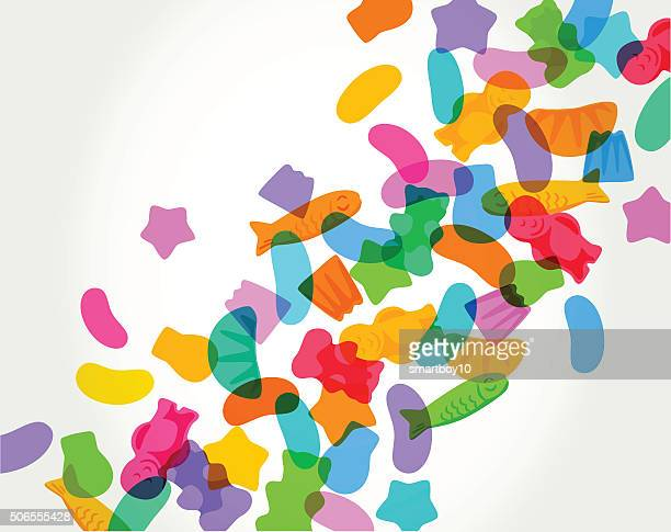 candy sweets - sugar food stock illustrations, clip art, cartoons, & icons