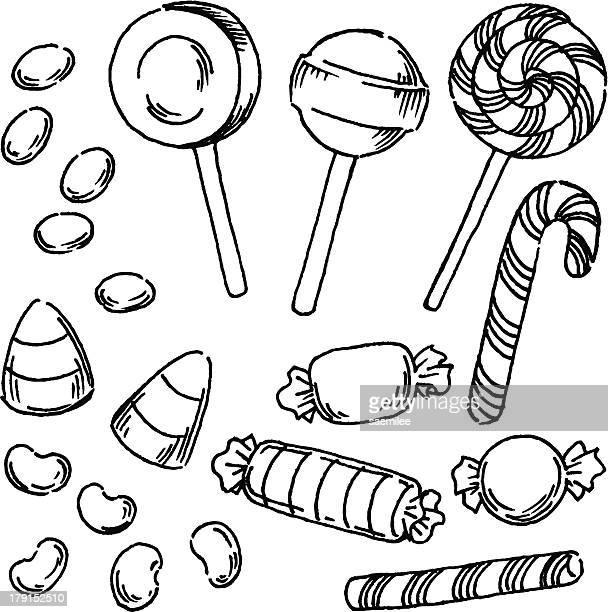 ilustraciones, imágenes clip art, dibujos animados e iconos de stock de candy - golosina