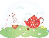Candyland teapot house