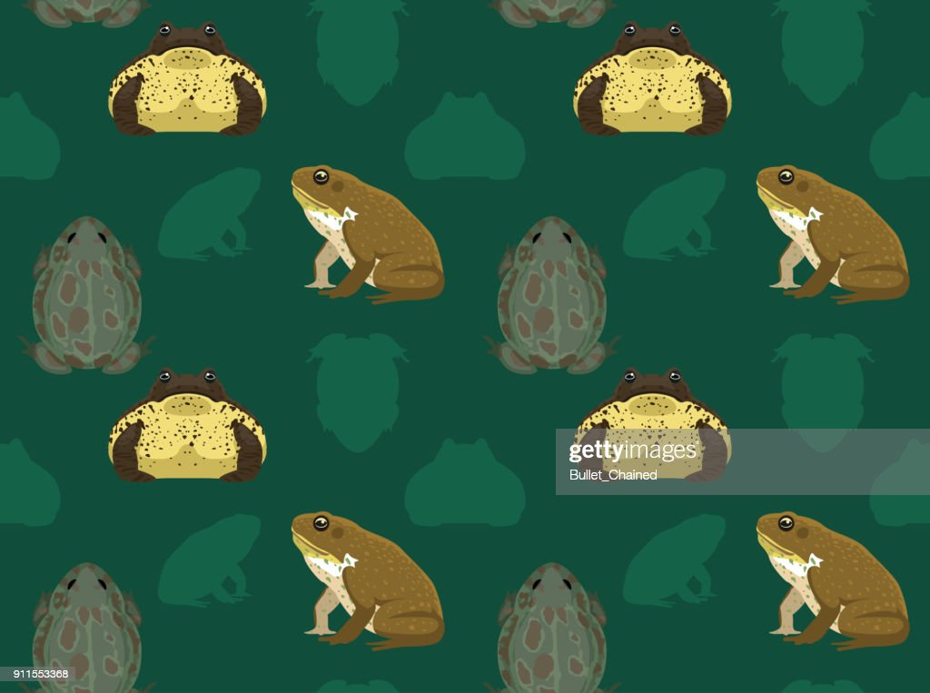 Cane Toad Seamless Wallpaper