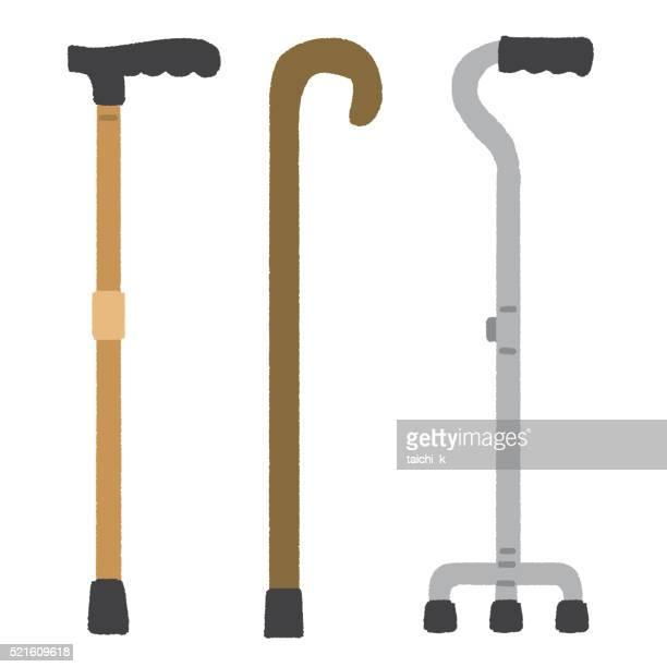 cane - walking cane stock illustrations