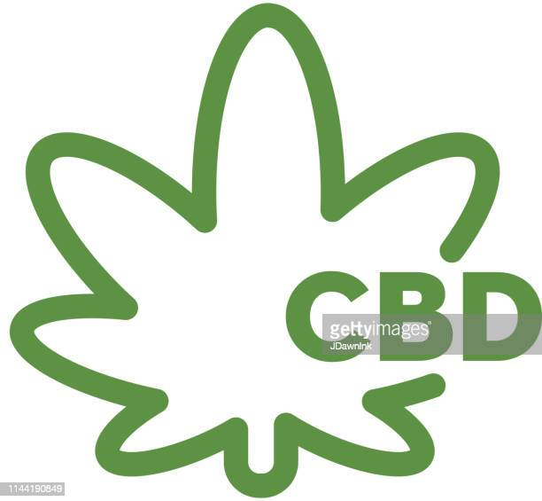 Cannabis CBD Indica Leaf Oil Products Icon