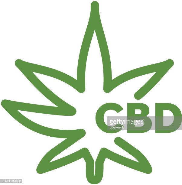 Cannabis CBD Oil Sativa leaf Products Icon