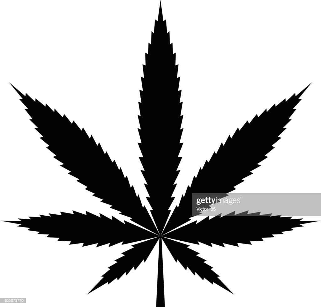 Cannabis icon. Black, minimalist icon isolated on white background.