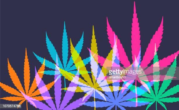 cannabis or marijuana leaves - hemp stock illustrations, clip art, cartoons, & icons