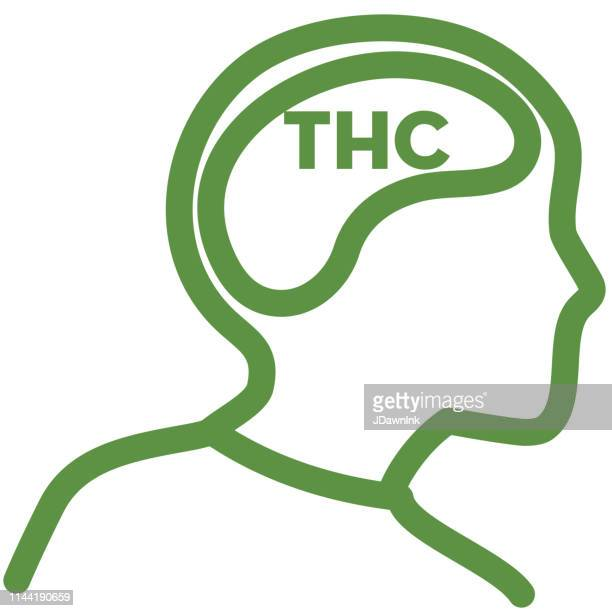 Cannabis THC effects on the brain Icon