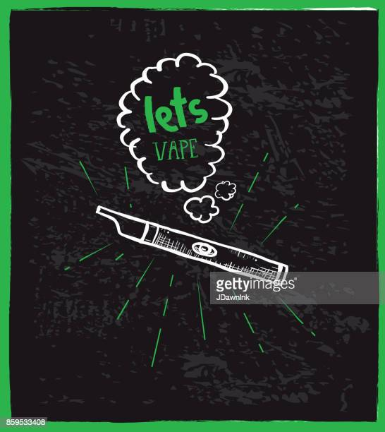 cannabis weed culture hand drawn labels designs - electronic cigarette stock illustrations, clip art, cartoons, & icons