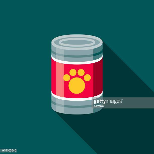 canned food flat design pet care icon - can stock illustrations
