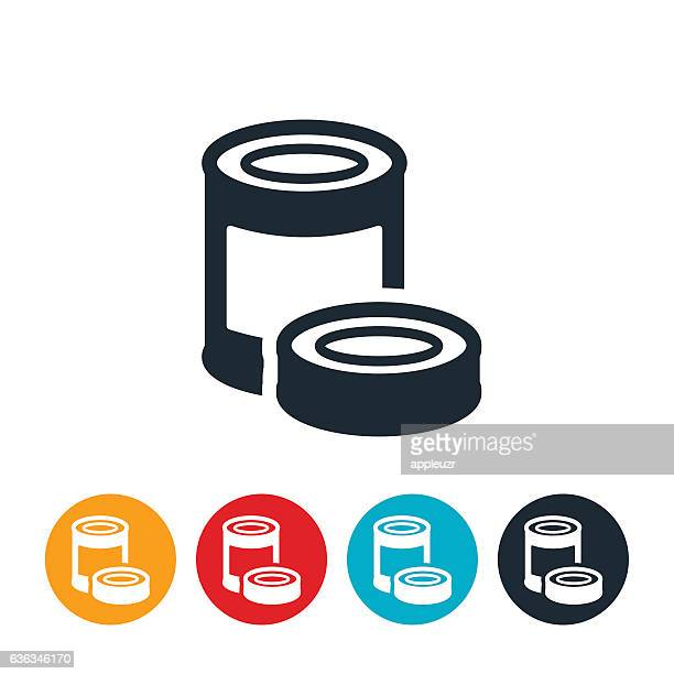 canned food icon - can stock illustrations