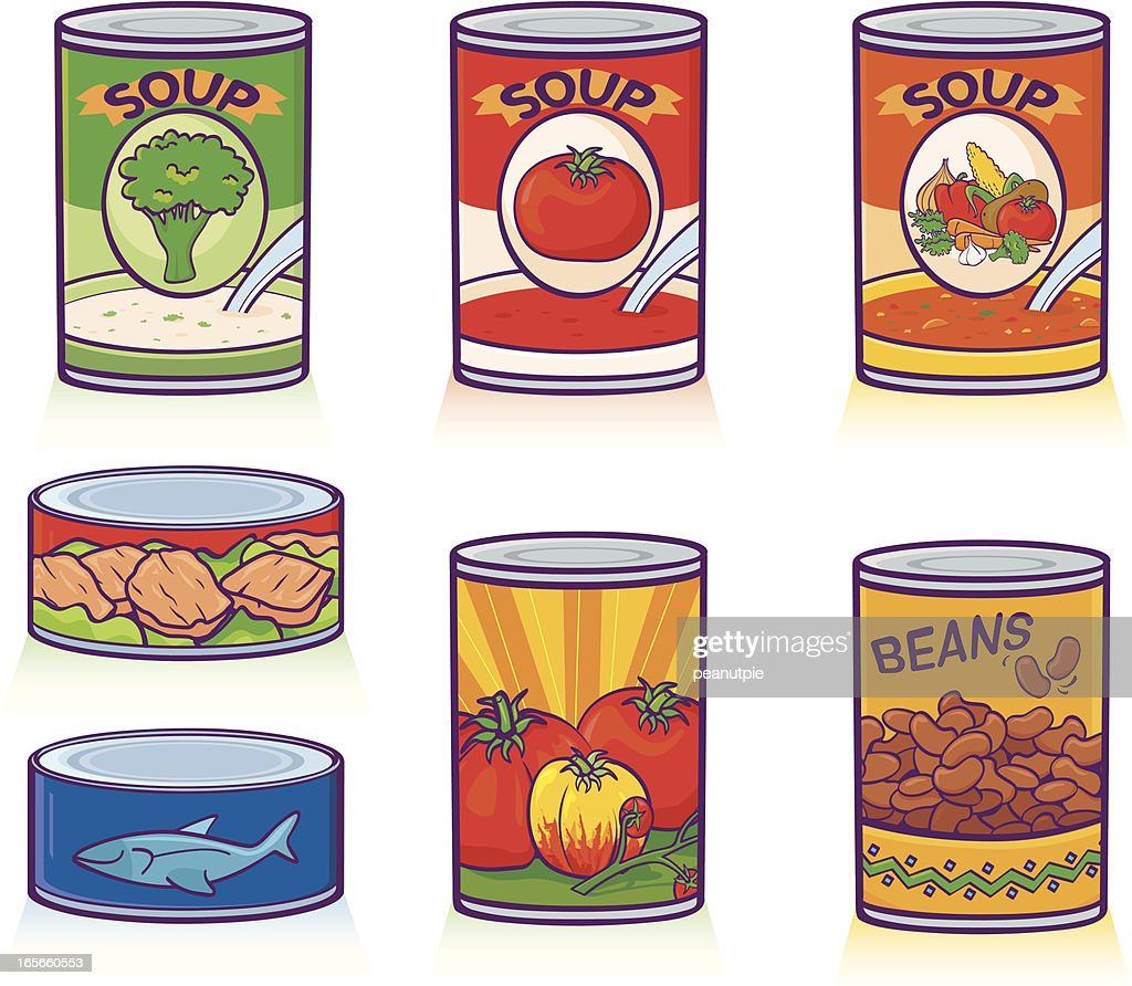 Canned Goods : stock illustration