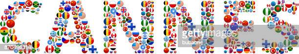 cannes world flags vector buttons - cannes stock illustrations, clip art, cartoons, & icons