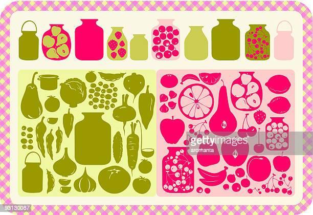canning food - marmalade stock illustrations, clip art, cartoons, & icons