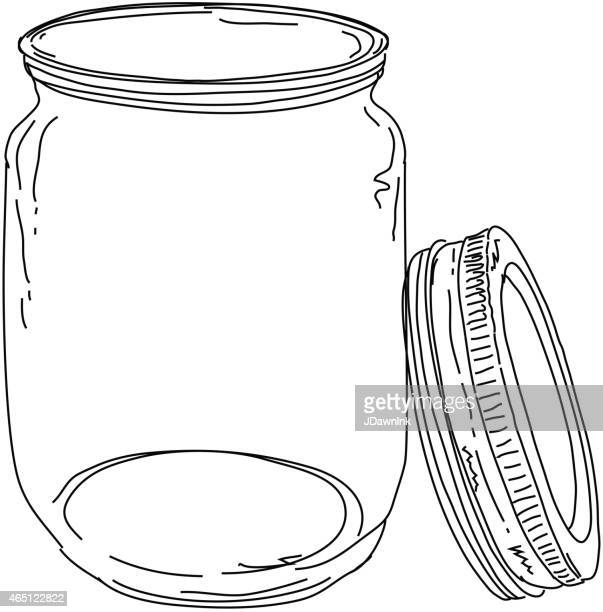 Canning jar open lid