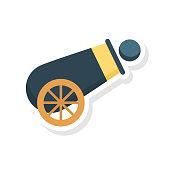 cannon   shooting  ball